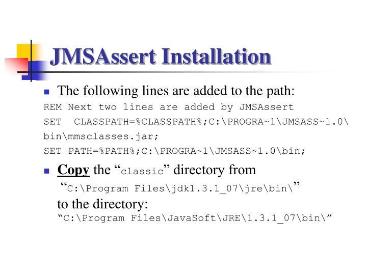 JMSAssert Installation