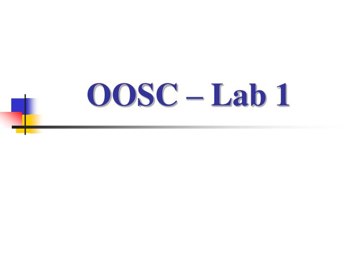 Oosc lab 1