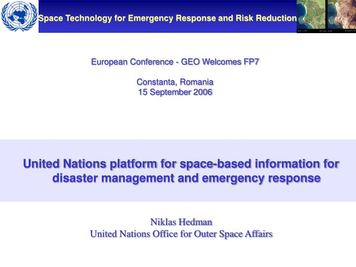 European Conference - GEO Welcomes FP7