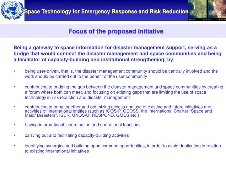 Focus of the proposed initiative