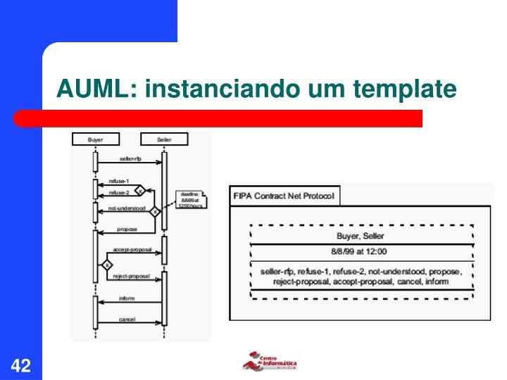 AUML: instanciando um template