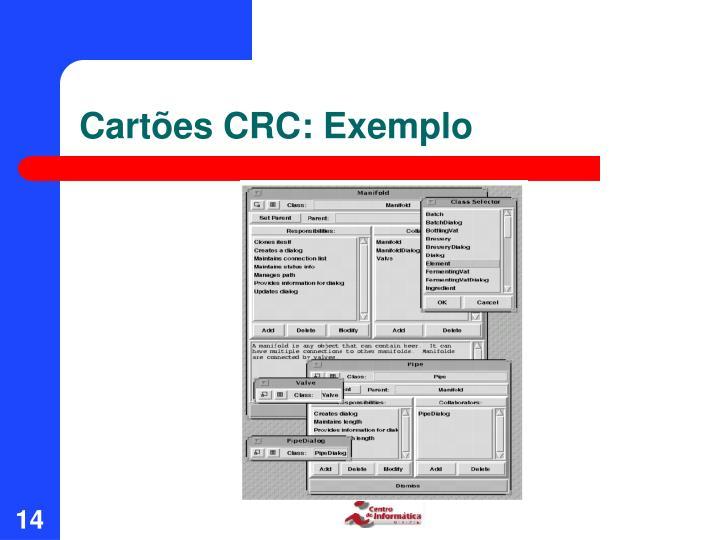 Cartões CRC: Exemplo