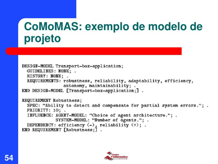 CoMoMAS: exemplo de modelo de projeto