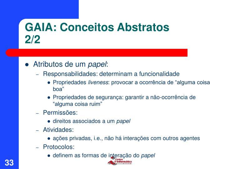 GAIA: Conceitos Abstratos