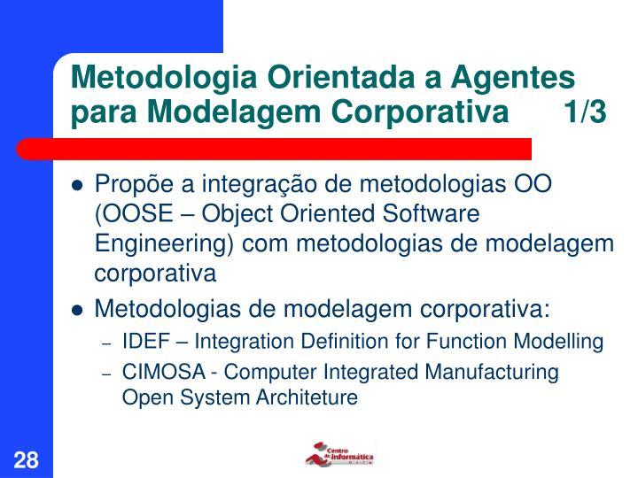 Metodologia Orientada a Agentes para Modelagem Corporativa      1/3