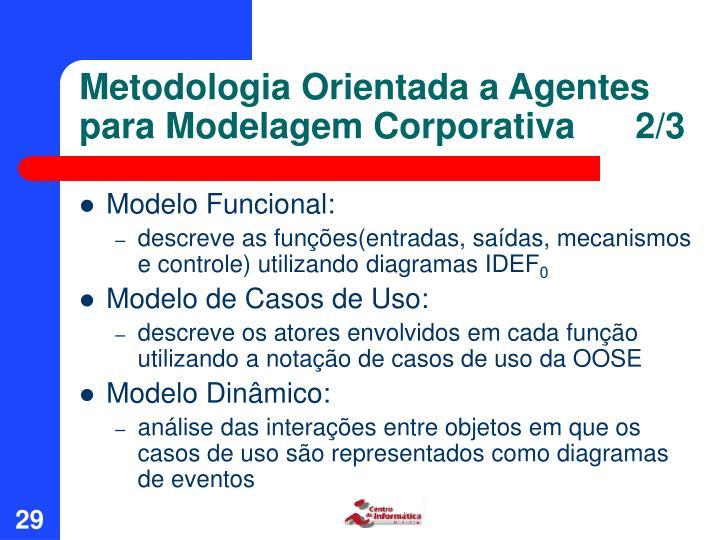 Metodologia Orientada a Agentes para Modelagem Corporativa      2/3