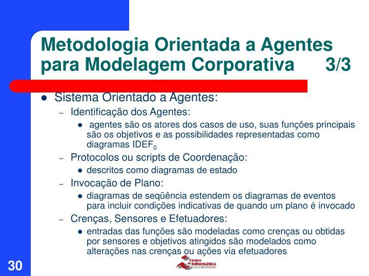 Metodologia Orientada a Agentes para Modelagem Corporativa      3/3