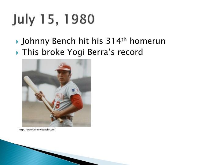 July 15, 1980