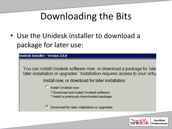 Downloading the bits