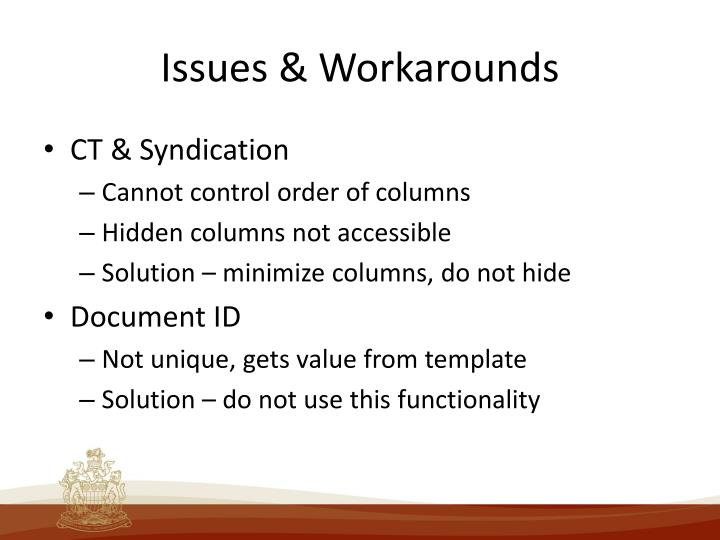 Issues & Workarounds