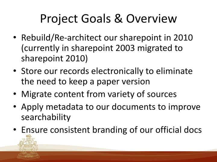 Project Goals & Overview