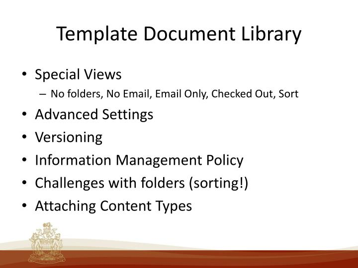 Template Document Library