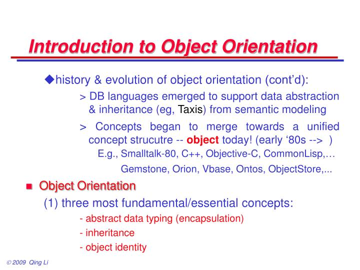 Introduction to object orientation1