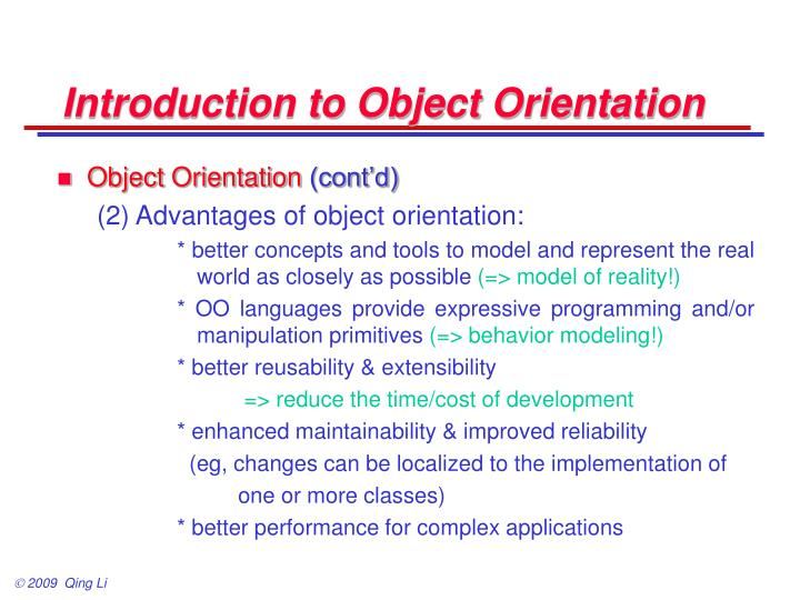 Introduction to object orientation2