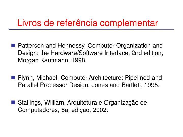 Livros de referência complementar