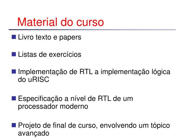Material do curso
