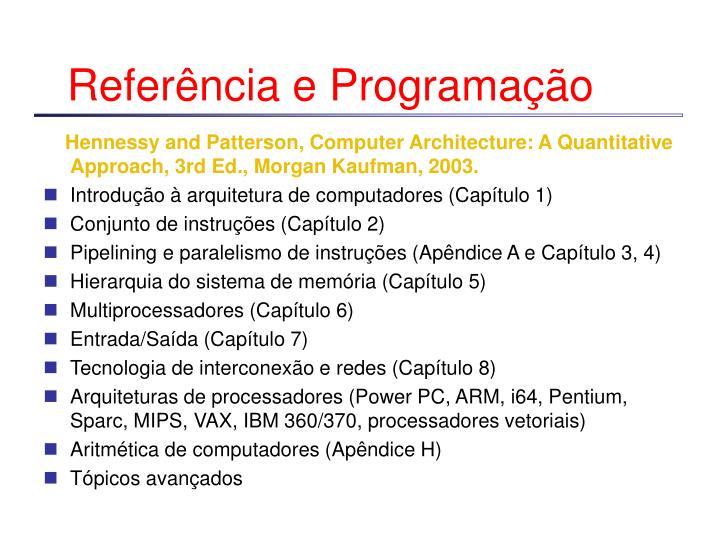 Referência e Programação