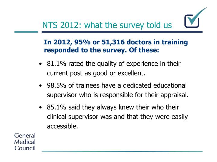 NTS 2012: what the survey told us