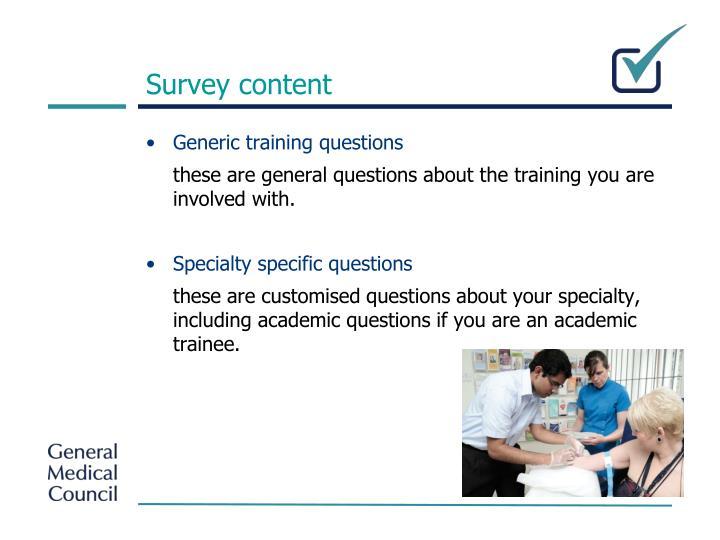 Survey content