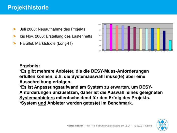 Projekthistorie