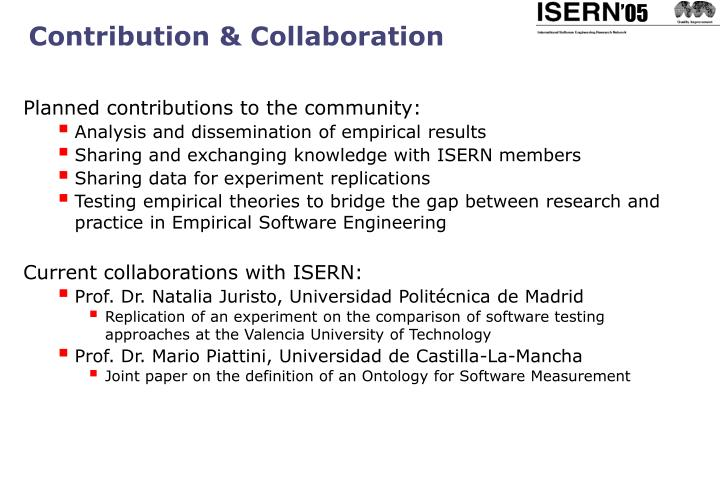 Contribution & Collaboration