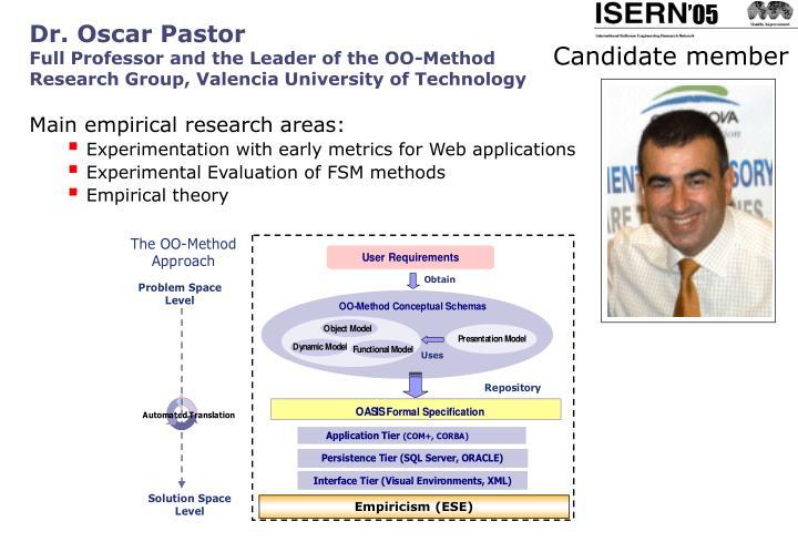 Dr. Oscar Pastor