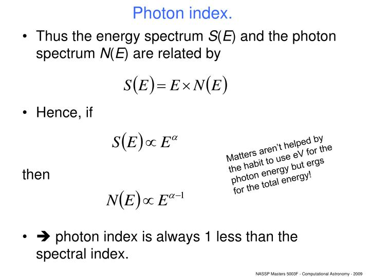 Photon index.