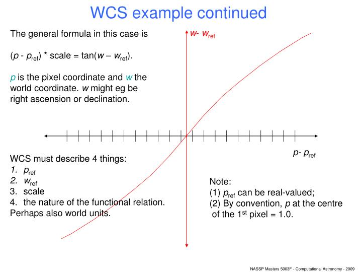 WCS example continued
