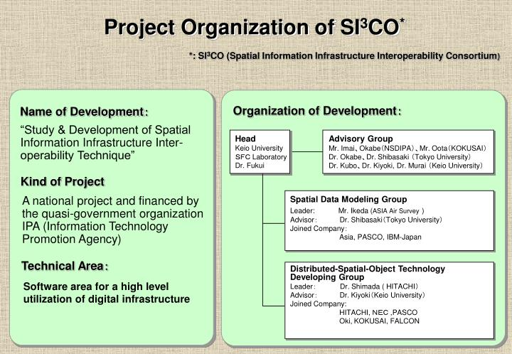 Project Organization of SI