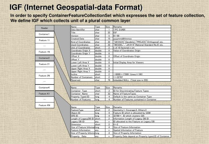 IGF (Internet Geospatial-data Format)