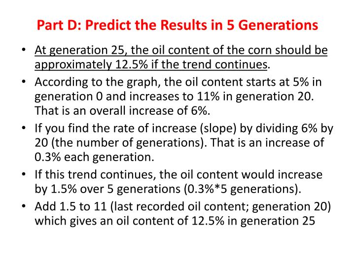 Part D: Predict the Results in 5 Generations