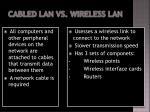 cabled lan vs wireless lan