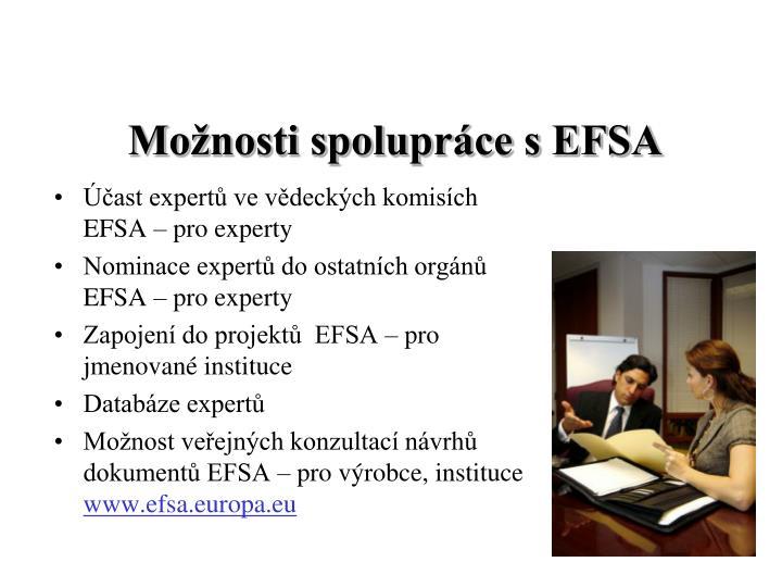 Účast expertů ve vědeckých komisích EFSA – pro experty
