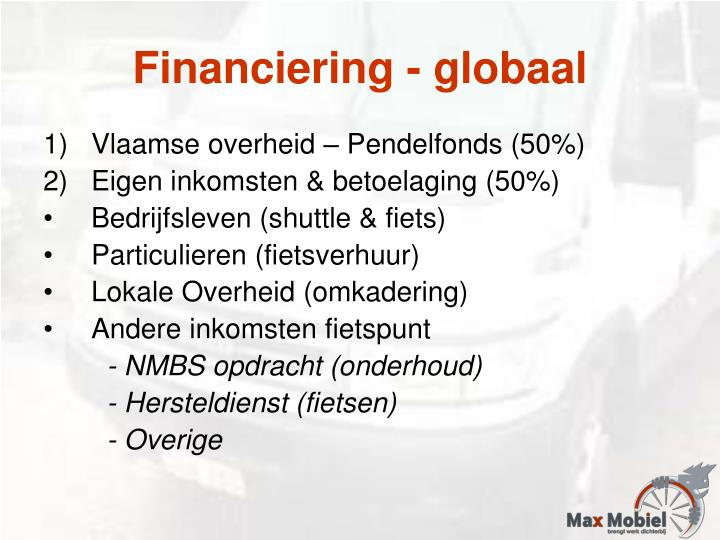 Financiering - globaal