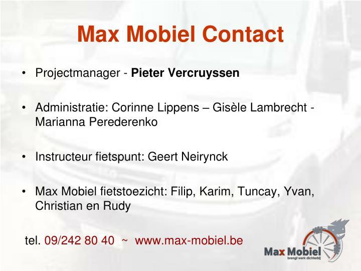 Max Mobiel Contact