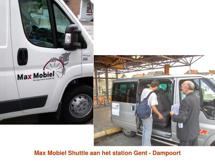 Max Mobiel Shuttle aan het station Gent - Dampoort