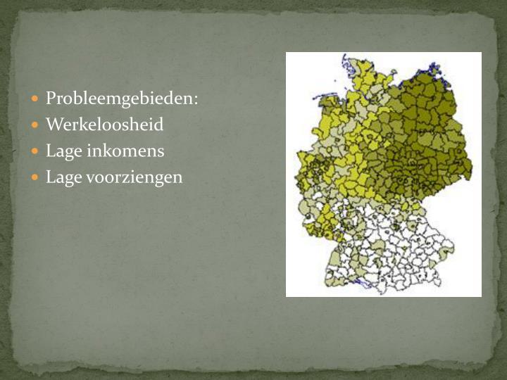 Probleemgebieden: