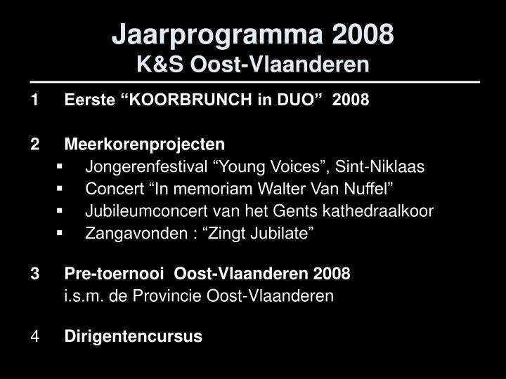 Jaarprogramma 2008