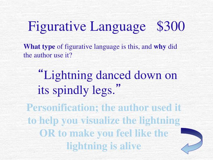 Figurative Language   $300