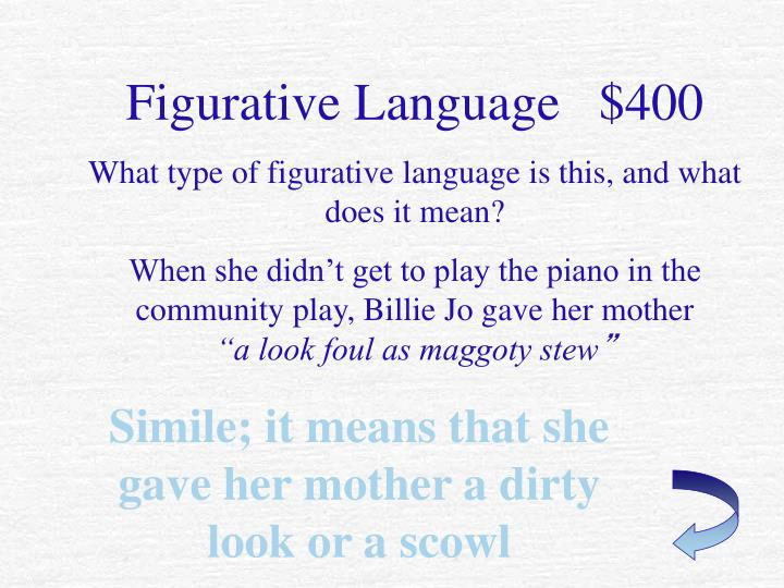 Figurative Language   $400