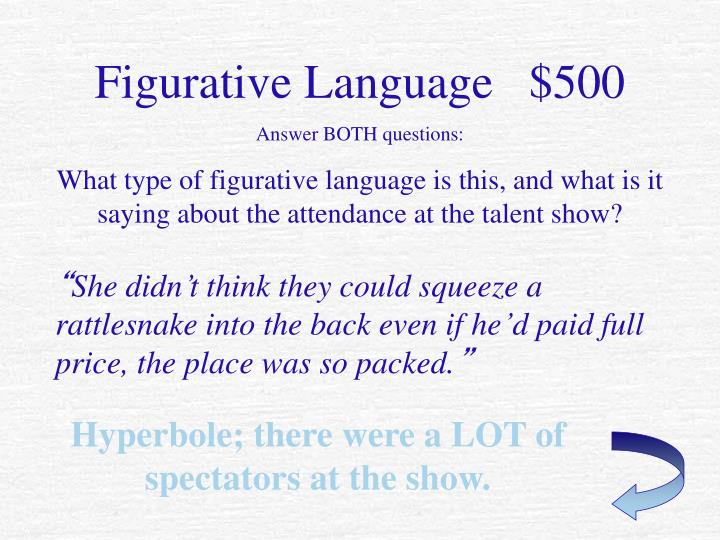 Figurative Language   $500