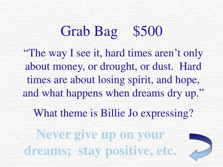 Grab Bag    $500