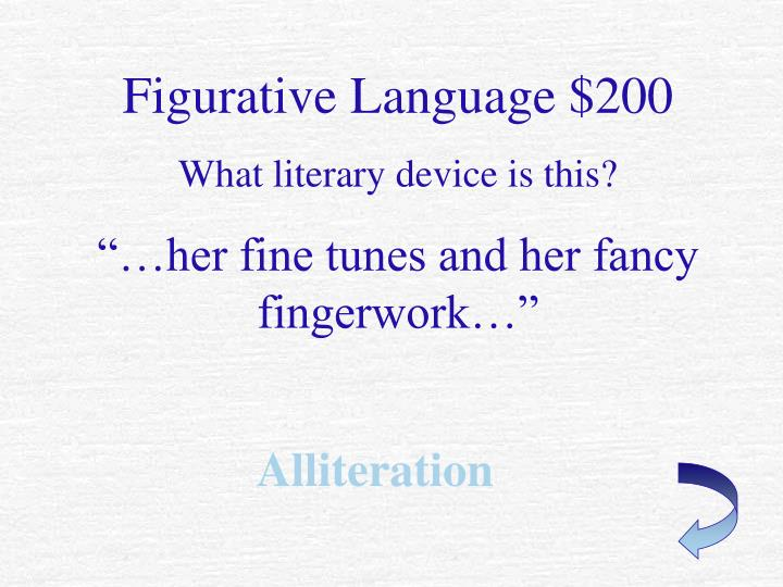 Figurative Language $200