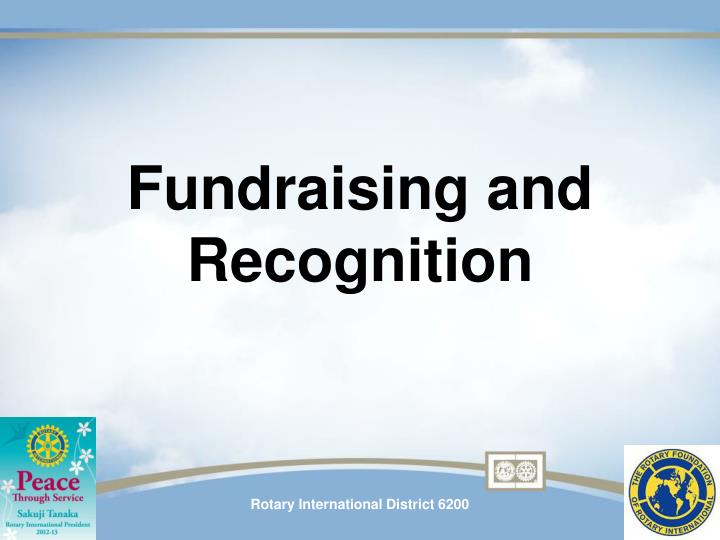 Fundraising and Recognition