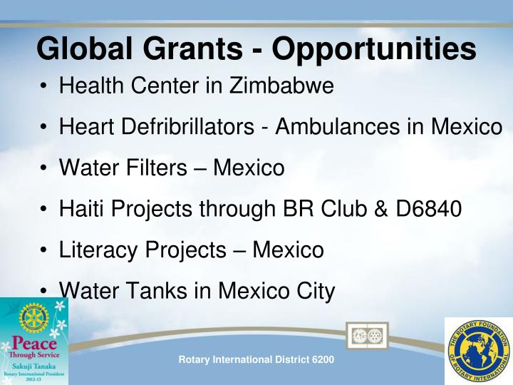 Global Grants - Opportunities