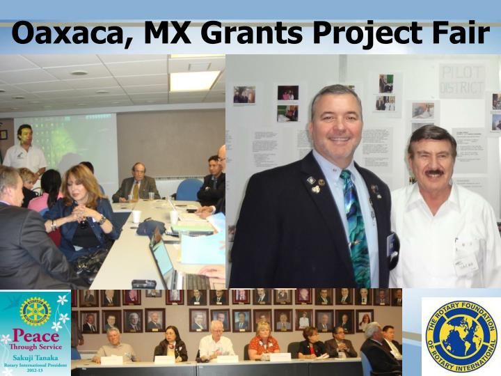 Oaxaca, MX Grants Project Fair