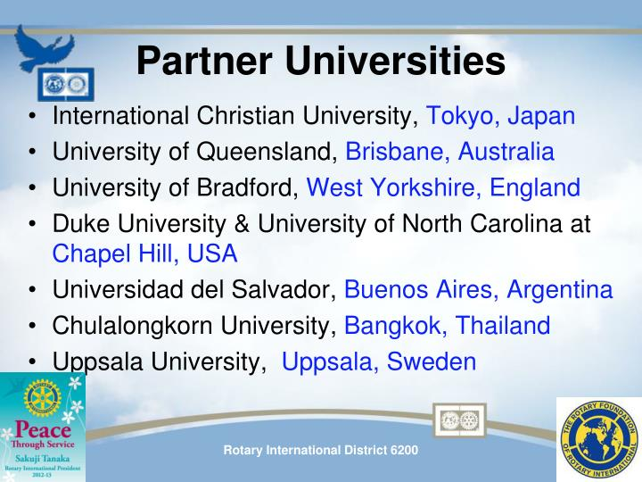 Partner Universities