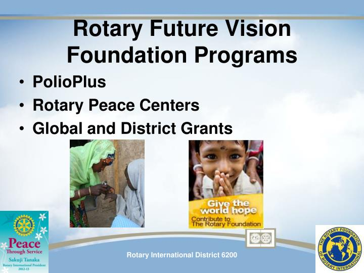 Rotary Future Vision Foundation Programs