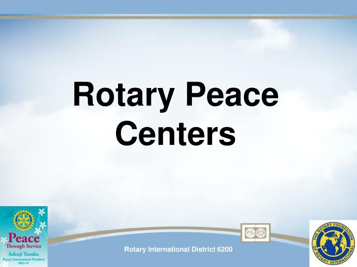 Rotary Peace Centers