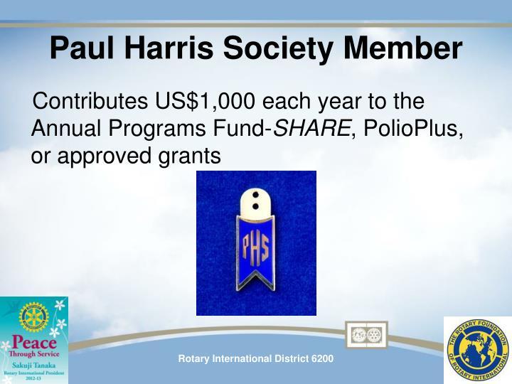 Paul Harris Society Member